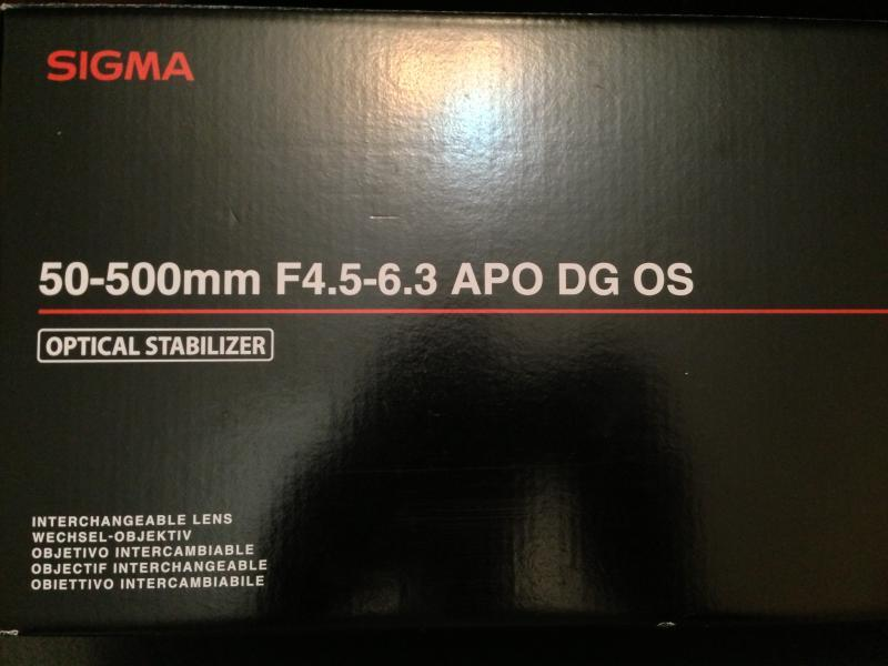 للبيع عدسة مستعمله وبضمان نوعها سيجما للنيكون 50-500 f4.5-6.3