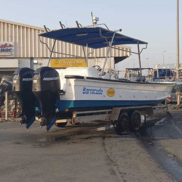 طراد بركودا 31 قدم للبيع ديلوكس نظيف جدا في ابوظبي