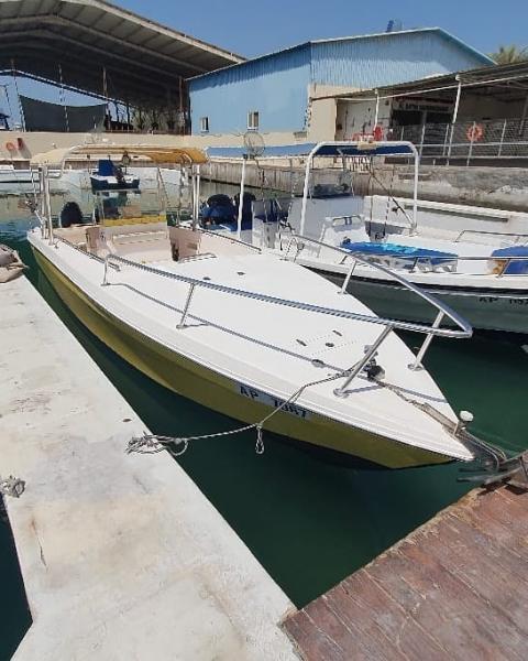 للبيع قارب العربية كرافت طوله ٣٠ قدم بحالة نظيفة جدا